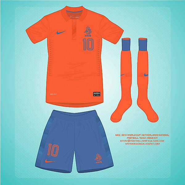 2014 Nike Netherlands  Home Kit