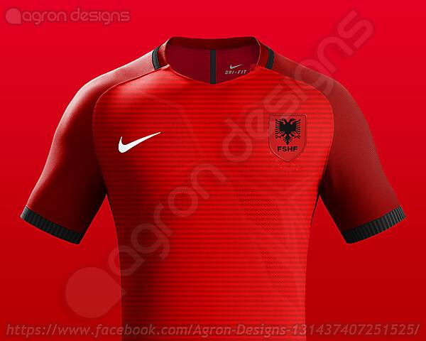 Nike Albania NT Home Kit Concept