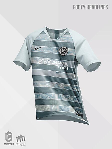Official Chelsea FC Nike Vapor Knit Strike Third Kit 2018-19 Leaked by Footy Headlines