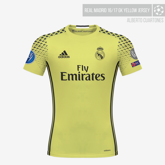 Real Madrid 16/17 Goalkeeper Yellow Jersey