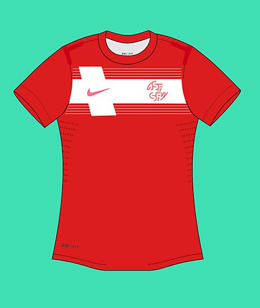 2013 Nike Switzerland National Team Home