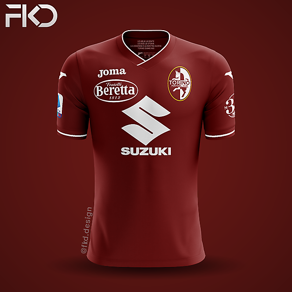 Torino FC - Joma Home with New Crest
