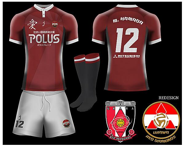 Crimson league Matchday 6 - Urawa Red Diamonds home kit