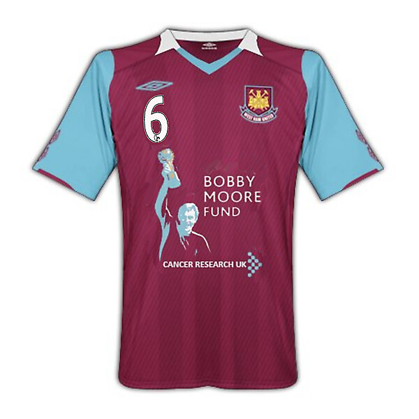 West Ham United - Bobby Moore Fund Home Shirt w. squad numbers