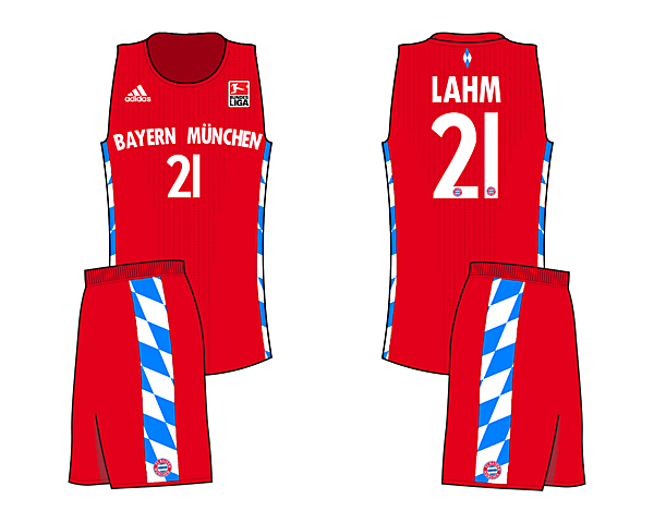 Bayern Bavarian Home (If Soccer teams had Basketball Jerseys)