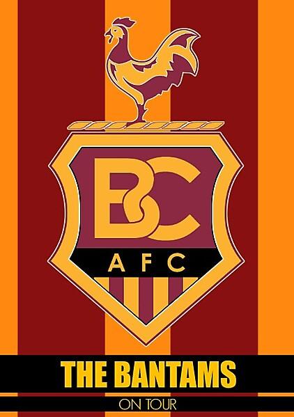 Bradford City On Tour Sticker