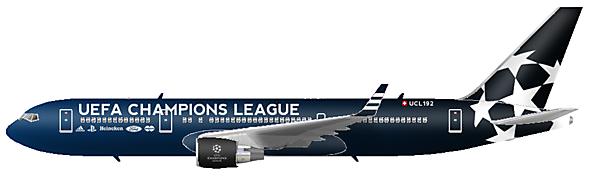 Champions League Plane