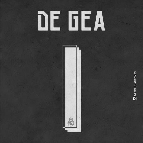 David de Gea Real Madrid printing