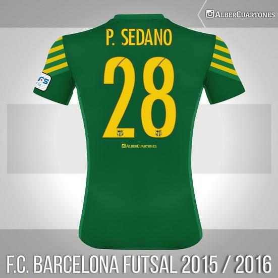 F.C. Barcelona Futsal 2015 / 2016 Goalkeeper Shirt