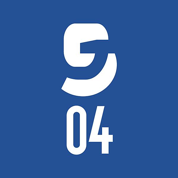 FC Schalke 04 Gelsenkirchen logo were partial