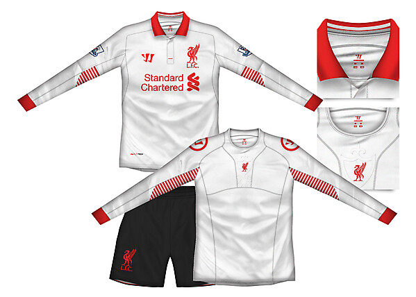 Liverpool Away Kit with baselayer