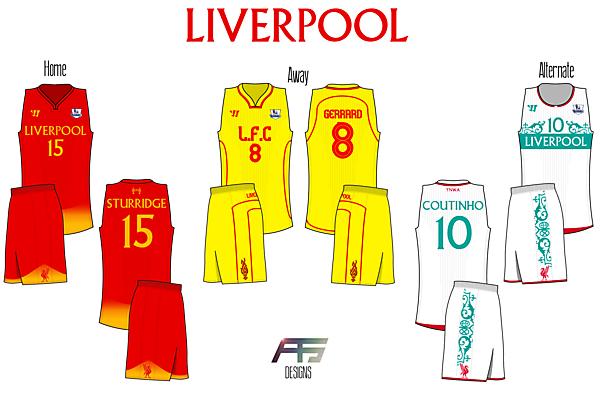 Liverpool FC [If Soccer (Football) Teams Had BasketBall Jerseys]