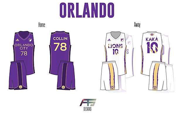 Orlando City SC [If Soccer (Football) Teams Had Basketball Jerseys]