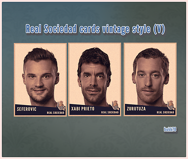 Real Sociedad cards vintage style (V)