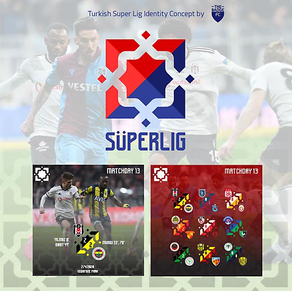Turkish Super Lig Identity Concept by @thebadgefc