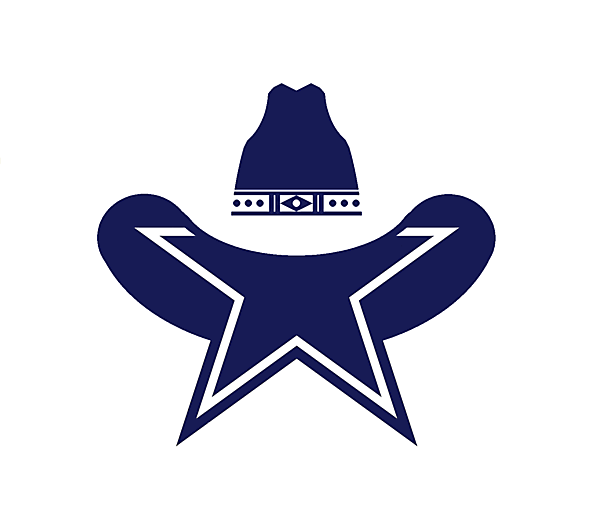 What if the Dallas Cowboys were a soccer team, upgrade on their iconic star logo.