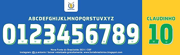 Novas Fontes Brasileirão 2021 / New Font Brasileirão 2021