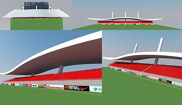 1.200 seater stadium