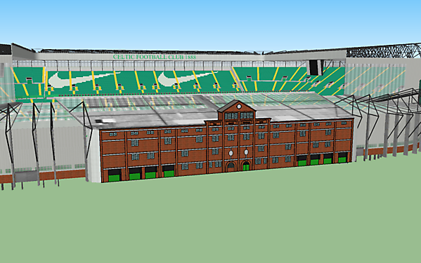 Celtic Park with Archibald Leitch Facade