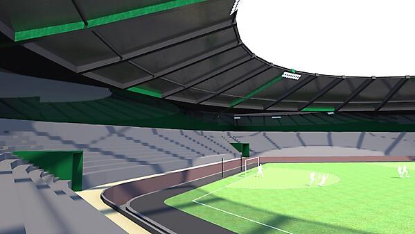 Stadium for Three Sided Football