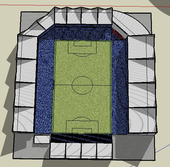 English Style Football Stadium.