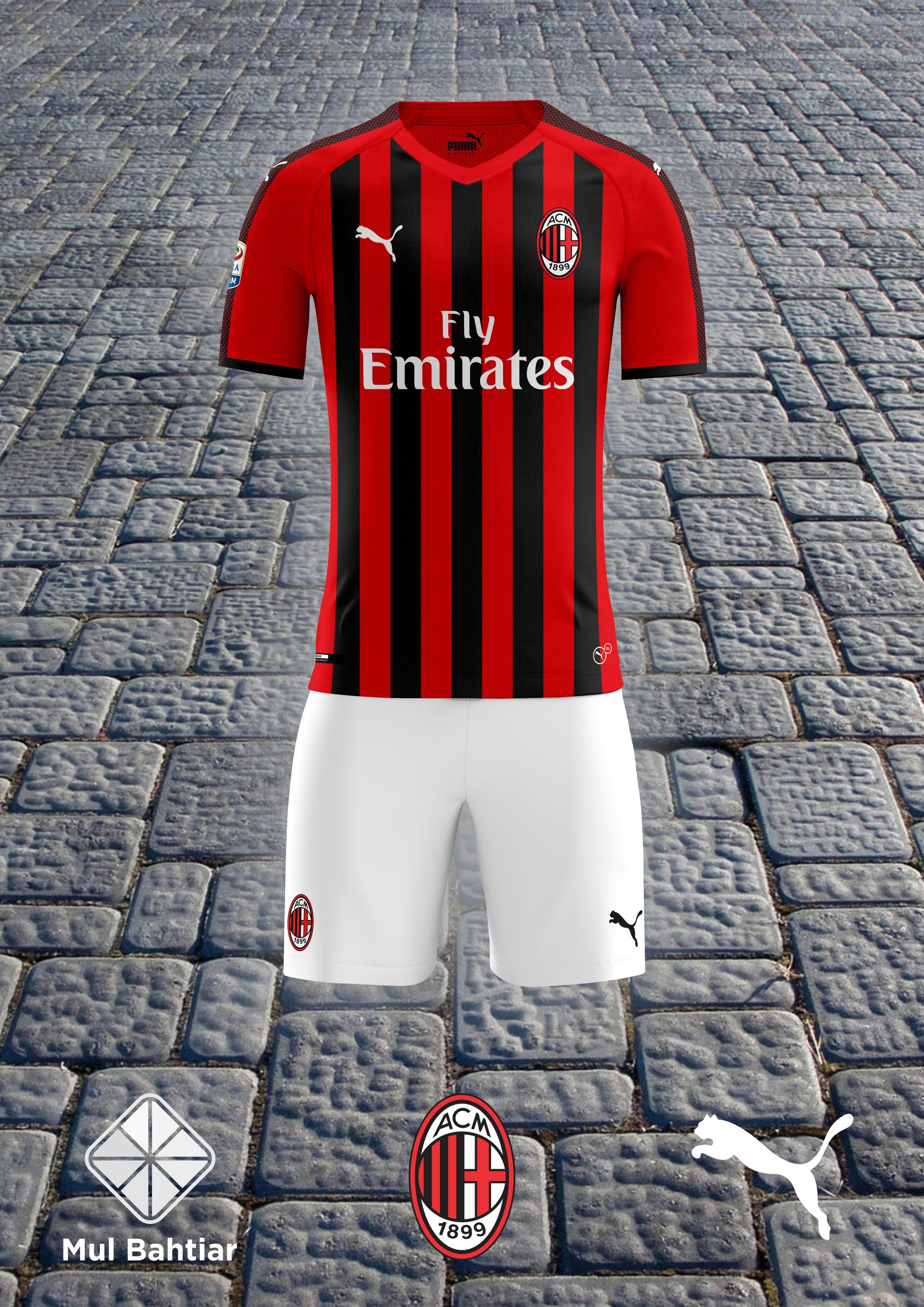 1088971a1 AC Milan 2018 2019 Home Puma Kit