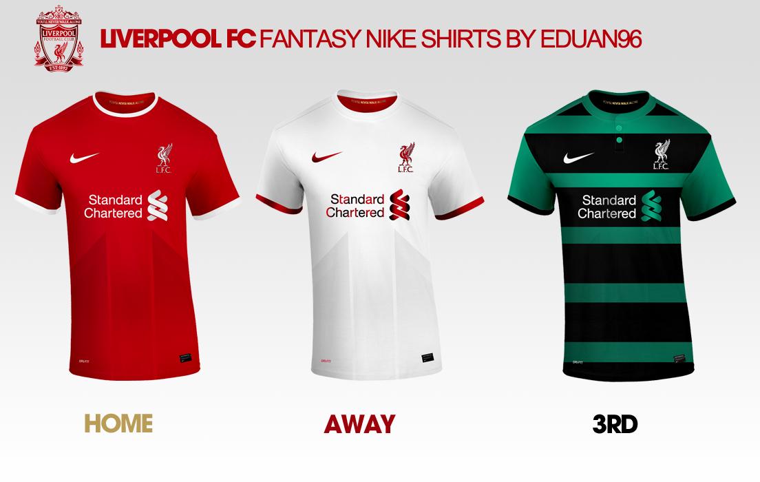 sports shoes 3cb75 2899f Liverpool FC Fantasy Nike Kits