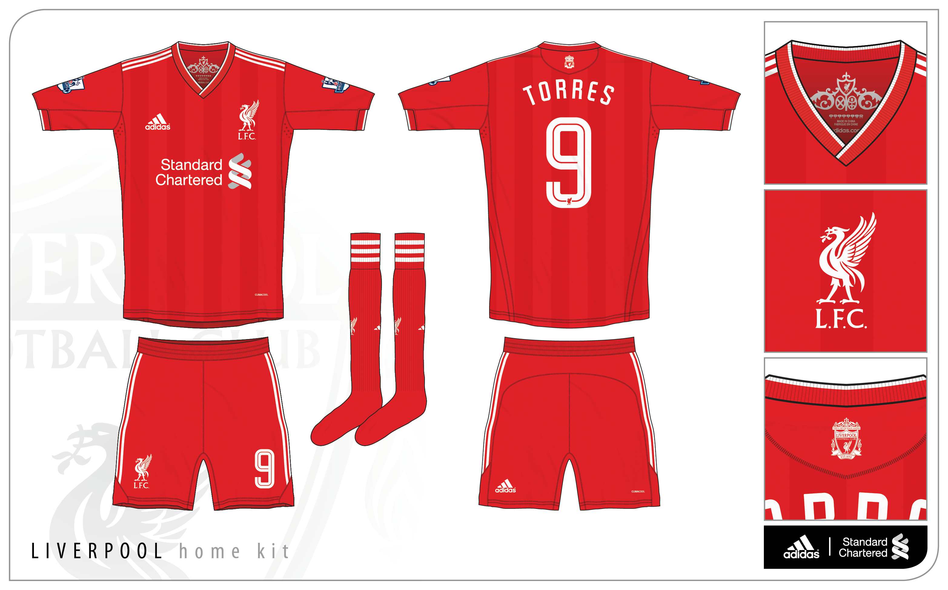 best loved 153e4 42ff2 Liverpool Home Kit