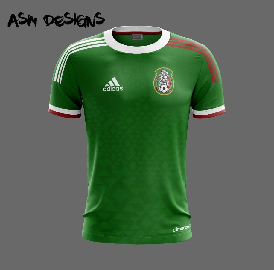 Black Mexico Soccer Jersey 2015 Home- New Mexico Copa ...  |Mexico National Team Kit