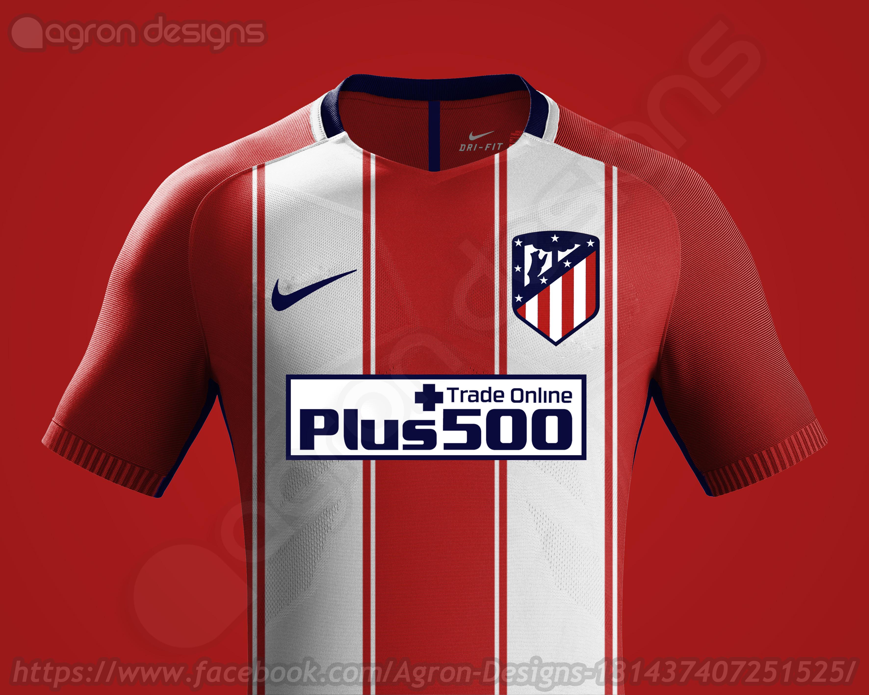 332064578 Nike Atlético Madrid 2017-18 Home Kit Prediction