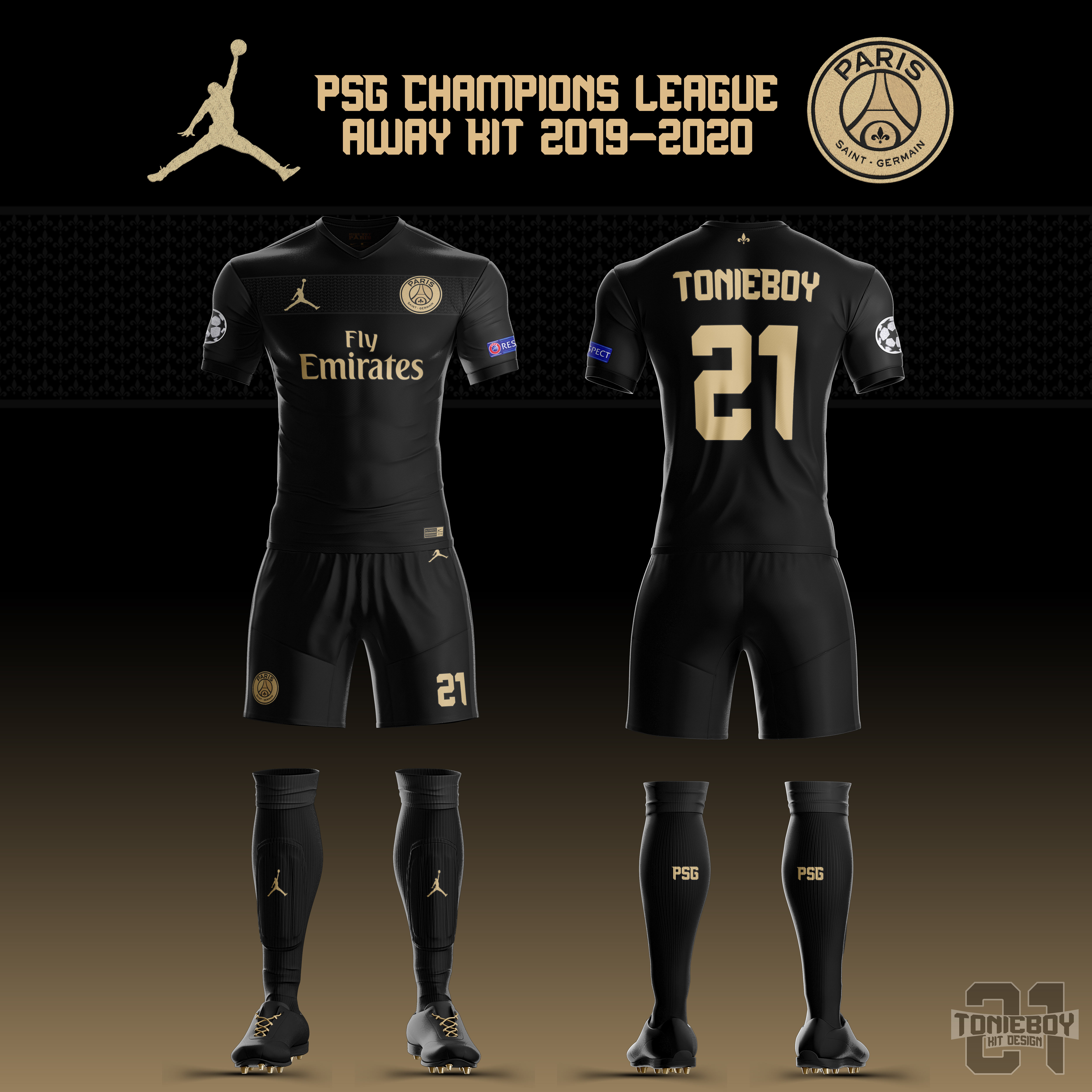 online store bba27 a262a PSG UCL Away Kit 19-20