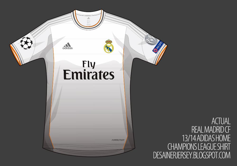 f19d6889b6d Real Madrid CF 13 14 Adidas Home Shirt (Champions League)