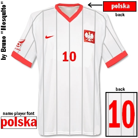 Poland Home Shirt made by Nike