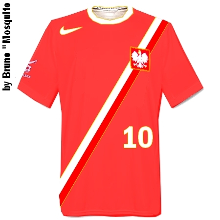 Poland Away Shirt made by Nike