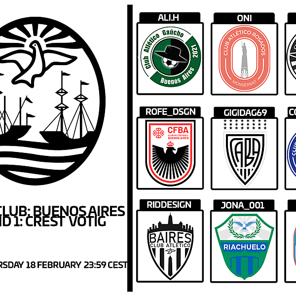 1 CITY 1 CLUB - BUENOS AIRES- PART I - CREST VOTING