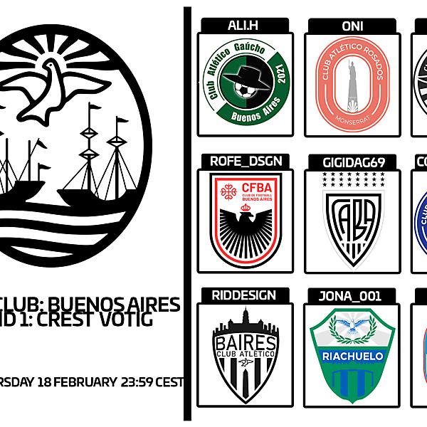 1 CITY 1 CLUB - BUENOS AIRES- PART I - CREST VOTING