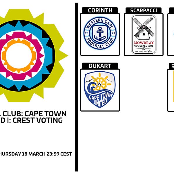 1 CITY 1 CLUB - CAPE TOWN - PART I - CREST VOTING