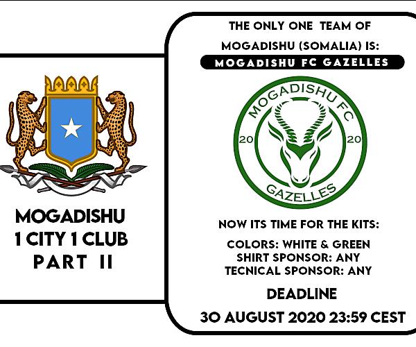 1 CITY 1 CLUB - MOGADISHU - PART II - KITS