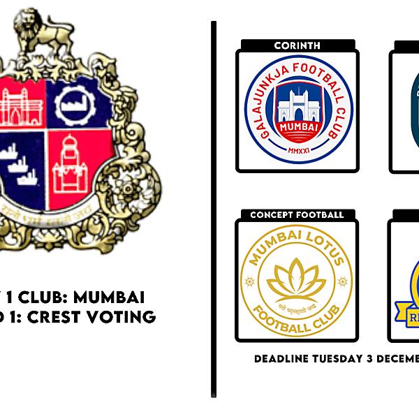 1 CITY 1 CLUB - MUMBAI - CREST VOTING
