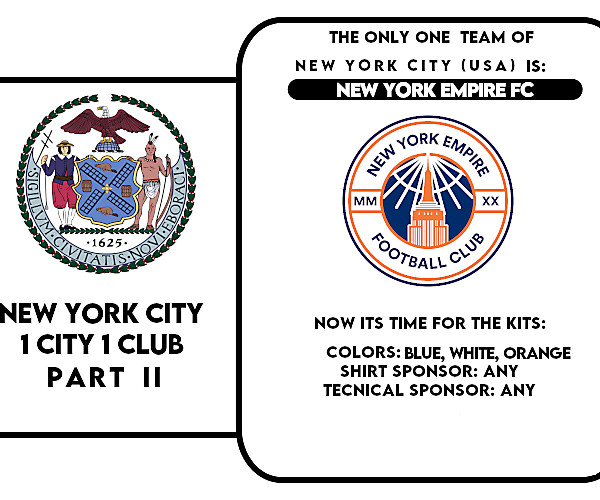 1 CITY 1 CLUB - NEW YORK CITY - PART II - KITS