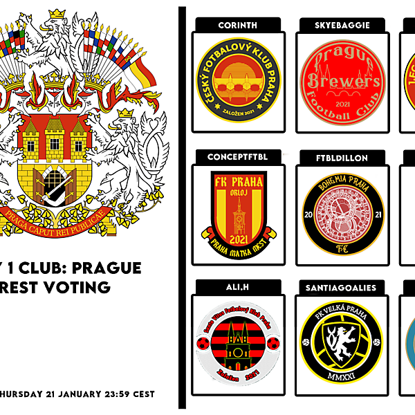 1 CITY 1 CLUB - PRAGUE - PART I - CREST VOTING