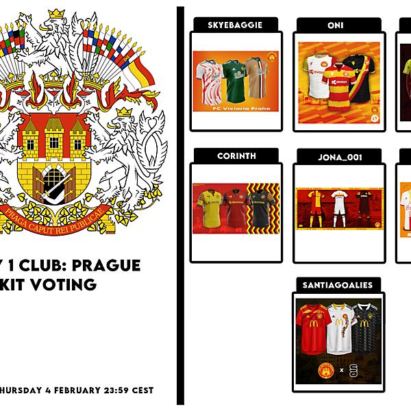 1 CITY 1 CLUB - PRAGUE - PART II - KITS VOTING