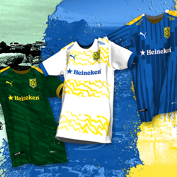 Cape Town Union Football Club | Home, Away & Third Kits x Puma By @rofe_dsgn
