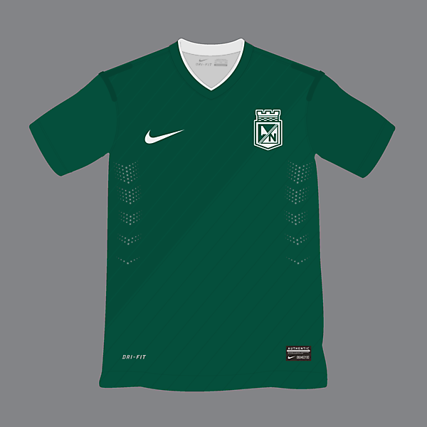 Atletico Nacional Home Kit Sponsorless