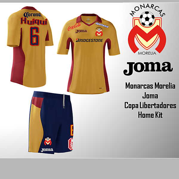 Joma - Monarcas Morelia Home Kit