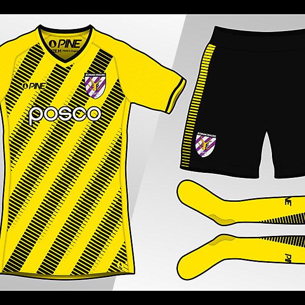 Jeonnam Dragons Home Kit Design by Pine