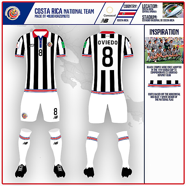Costa Rica Away Kit   WC Knockout Comp Round of 16   made by @bluehorizonkits