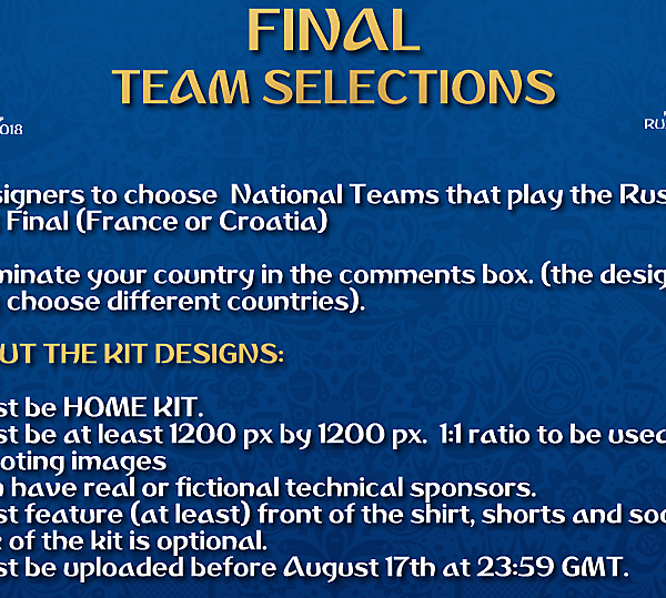 [FINAL] Team Selections
