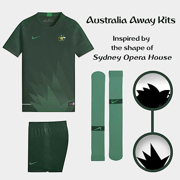 Nike Australia Away Kits Concept