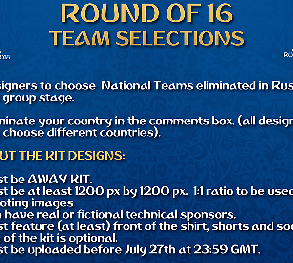 [Round of 16] Team Selections